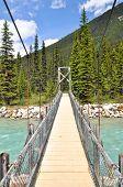 Bridge over Vermilion river at Kootenay National Park, Canada