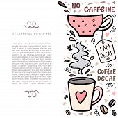 Coffee Handdrawn Illustarion With Space For Your Text. Handdrawn Vector Illustation With Cute Coffee poster