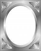 Silver Frame Celtic Corners