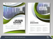 Modern Green Brochure Design, Brochure Template, Brochures, Brochure Layout, Brochure Cover, Brochur poster
