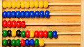Baby Colored Abacus Toy / Background Image Educational Educational Educational Educational Game poster