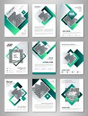 Green Abstract Presentation Slide Templates. Brochure Template, Brochures, Brochure Layout, Brochure poster