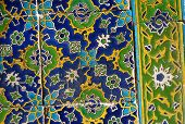 Famous Iznik glaze tiles at the courtyard of Topkapi Palace in Istanbul, Turkey