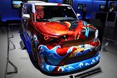 CHICAGO - FEBRUARY 15: The custom Scion presentation at the Annual Chicago Auto Show on February 15,