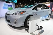 CHICAGO - FEBRUARY 15: The Toyota Prius-C presentation at the Annual Chicago Auto Show on February 1