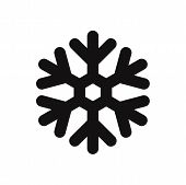 Snowflake Icon Isolated On White Background. Snowflake Icon In Trendy Design Style. Snowflake Vector poster
