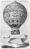 Balloon of Marquis d'Arlandes (1742-1809), a french ballooning pioneer. Illustration source: Scribne