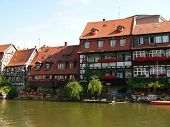 Bamberg houses by River, Bavaria, Germany.