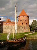 Old sailer by Trakai castle