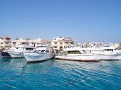 Travel boats in harbor