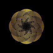 Circle Logo Vector, Technology Icon, Geometric Curve Continues Logo, Company Logo, Logo Design, Vect poster