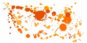 Graffiti Spray Stains Grunge Background Vector. Colored Ink Splatter, Spray Blots, Mud Spot Elements poster