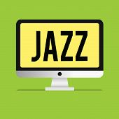 Text Sign Showing Jazz. Conceptual Photo Forceful Rhythm Using Brass And Woodwind Instruments To Pla poster