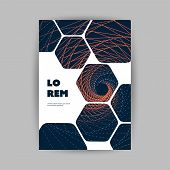 Modern Style Tiled Flyer Or Cover Design For Your Business With Spiralling Lines Pattern - Template  poster