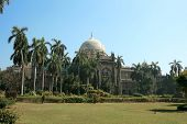 Garden in front of Prince of Wales Museum in Mumbai, India