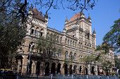 Famous building in center of Mumbai, India