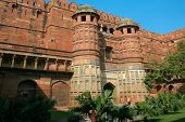 Gate of Agra Fort in India