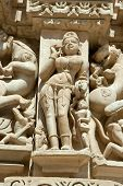 stock photo of tantric  - Detail of Vishnavath temple - JPG
