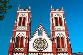 Cacred heart church in Pondicherry, Tamil Nadu ,  Indiia