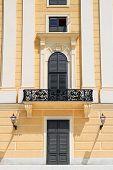 picture of schoenbrunn  - One of many Castle Schoenbrunn balconies in Vienna  - JPG