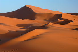 pic of barchan  - Sand dunes of Erg Chebbi in the Sahara Desert - JPG