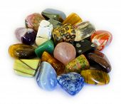 stock photo of agate  - Various stones minerals gems that contain spiritual force human believes - JPG
