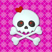 stock photo of emo  - Girly Skullz - JPG
