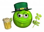 Leprechaun Emoticon With Beer