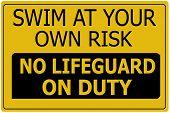 Smim At Own Risk Sign