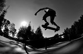 silueta de skateboarding