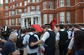 Police And Protesters Outside The Julian Assange Protest Outside The Ecuadorian Embassy In London 19