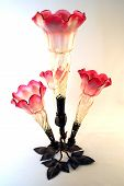 Red Depression Glass Vase