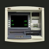 picture of automatic teller machine  - Automatic Teller Machine  - JPG