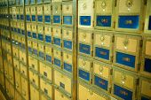 Old Fashioned Post Office Boxes