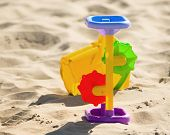 Children`s Toys On The Sand