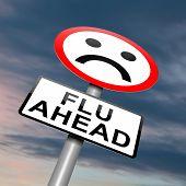 Grippe-Alarm-Konzept.