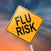 pic of swine flu  - Illustration depicting a roadsign with a flu concept - JPG