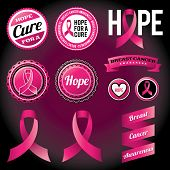 pic of mammogram  - Breast Cancer Awareness ribbons and badges - JPG