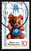 Postage Stamp Gdr 1979 Teddy Bear, Toy