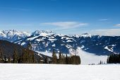 Ski Slopes on Schmitten Mountain, in Zell Am See Resort