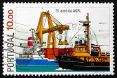 Postage Stamp Portugal 1983 Ships In Port