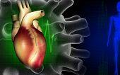 Heart With Eco Cardio Gram Pulse