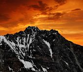 Mount Dom in the sunset - Wallis,Swiss Alps