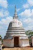 Small White Stupa Temple, Sri Lanka