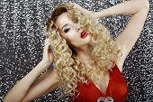 Glamor. Elegant Charming Lady Blonde. Charisma