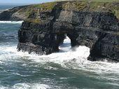 Rocky coastline of Ireland