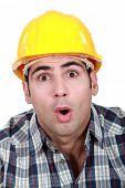 An astonished tradesman
