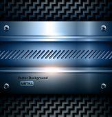 Elegant metallic background vector steel texture.