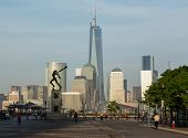 Katyn Memorial Frames World Trade Center In Jersey City