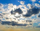 Setting Sun Clouds